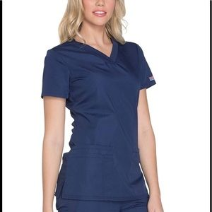 Cherokee Navy V Neck Scrub Top!